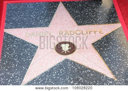 LOS ANGELES - NOV 12:  Daniel Radcliffe's Star at the Daniel Radcliffe Hollywood Walk of Fame Ceremony at the Hollywood Walk of Fame on November 12, 2015 in Los Angeles, CA