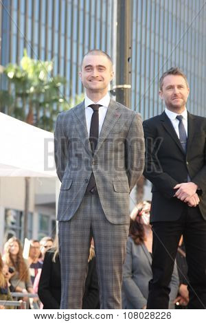 LOS ANGELES - NOV 12:  Daniel Radcliffe, Chris Hardwick at the Daniel Radcliffe Hollywood Walk of Fame Ceremony at the Hollywood Walk of Fame on November 12, 2015 in Los Angeles, CA