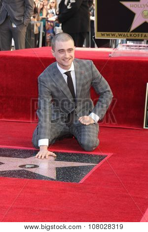 LOS ANGELES - NOV 12:  Daniel Radcliffe at the Daniel Radcliffe Hollywood Walk of Fame Ceremony at the Hollywood Walk of Fame on November 12, 2015 in Los Angeles, CA