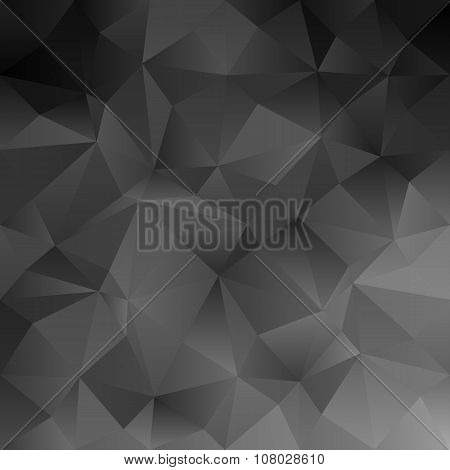 Black abstract triangle pattern background