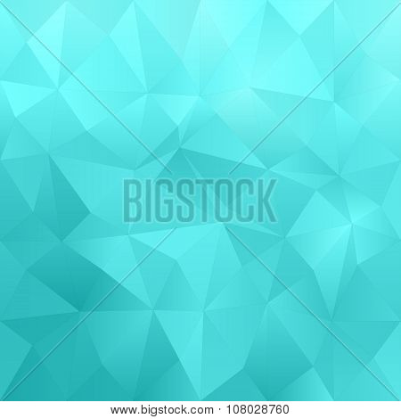 Cyan abstract triangle pattern background