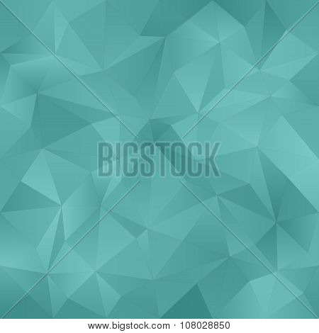 Teal irregular triangle pattern background