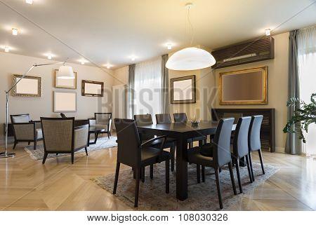 Specious Apartment Interior, Dining Area