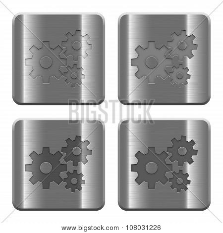 Metal Gears Buttons