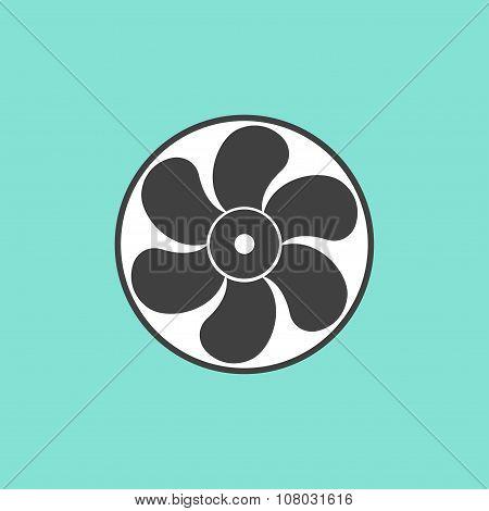 Fan  Icon.