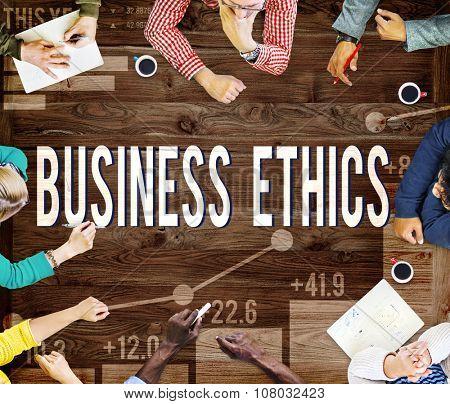 Business Ethnics Philosophy Responsibility Honesty Concept