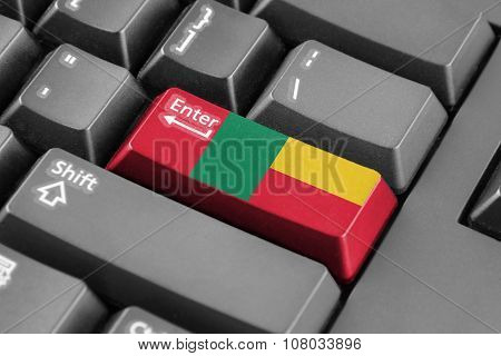 Enter Button With Benin Flag