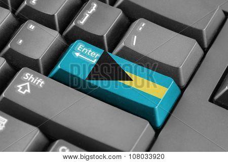 Enter Button With Bahamas Flag