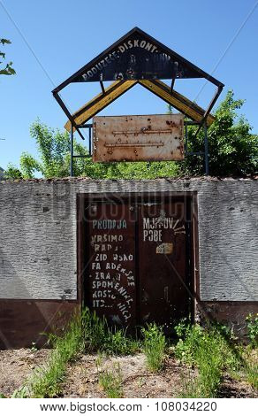 PAKRAC, CROATIA - MAY 07: Destroyed house as war aftermath. The Croatian War of Independence was fought from 1991 to 1995 in Pakrac, Croatia on May 07, 2015
