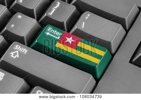 Enter Button With Togo Flag