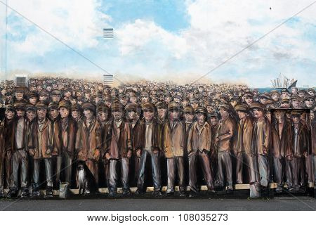 Titanic Workers Mural, Belfast, Northern Ireland