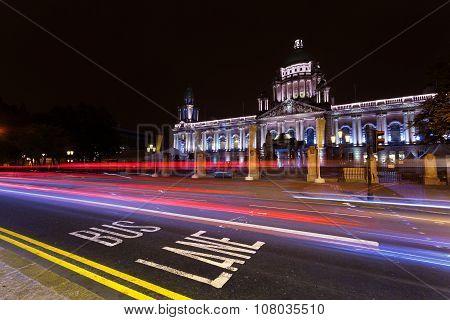 Belfast City Hall By Night