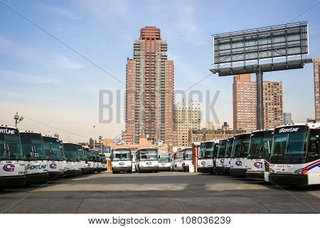 Bus Garage In New York