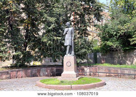 Monument To Mikhail Lermontov In Penza, Russia