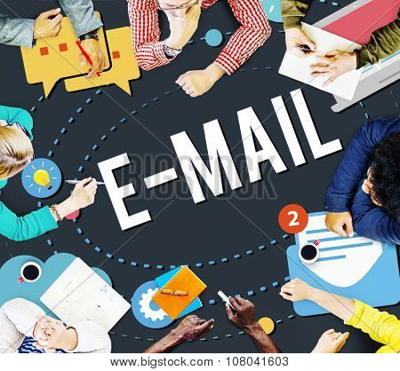 Electronic Mail Communication Technology Concept