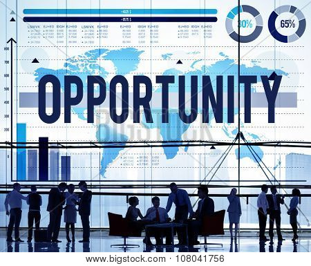 Opportunity Chance Choice Development Success Concept