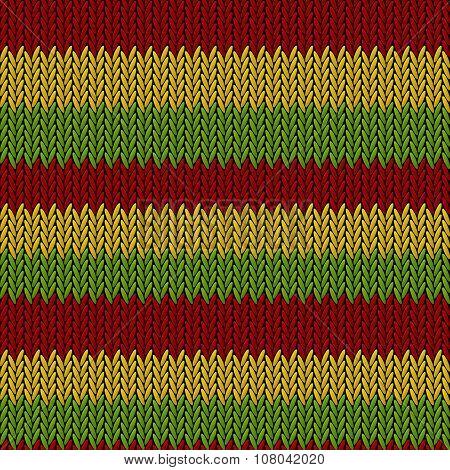 Seamless knitted reggae pattern