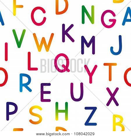 Seamless pattern with color letters