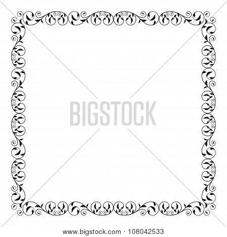 Square decorative frame.
