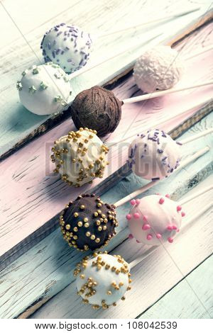 Delicious Colorful Cake Pops