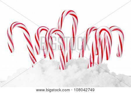 christmas candies isolated on white background