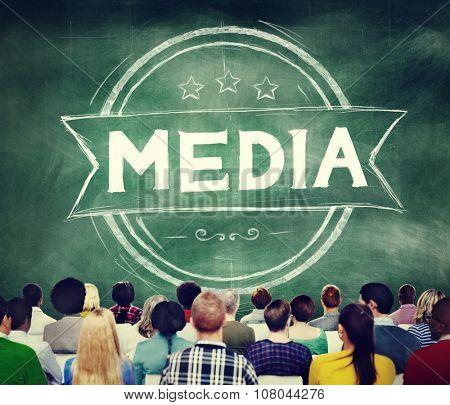 Media Journalism Multimedia Communication Internet Concept
