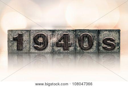 1940S Concept Vintage Letterpress Type