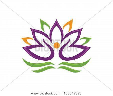 Stylized lotus flower