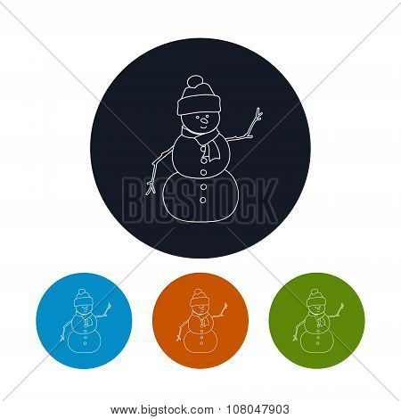 Icon Of A Christmas Snowman