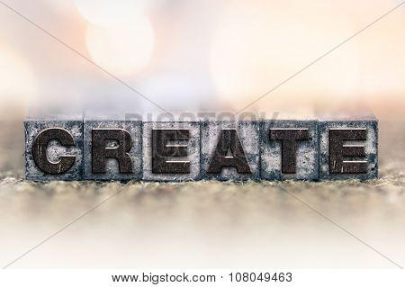 Create Concept Vintage Letterpress Type