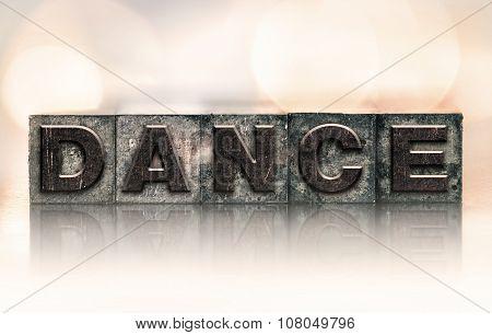 Dance Concept Vintage Letterpress Type