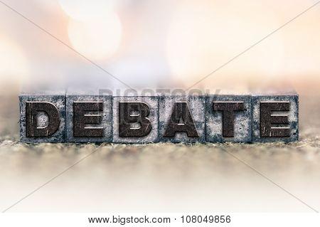 Debate Concept Vintage Letterpress Type