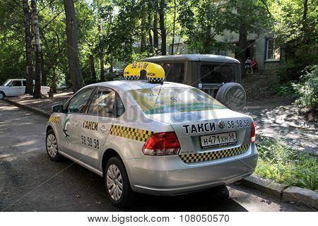 Taxi Car In The City Of Penza