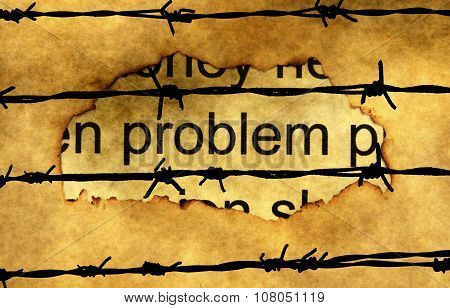 Problem Paper Hole Concept Against Barbwire