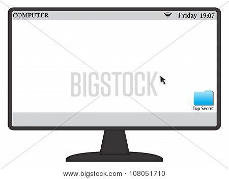 Computer Screen And Symbols