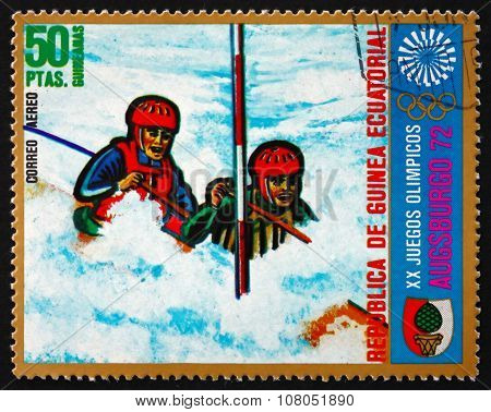 Postage Stamp Equatorial Guinea 1972 Canoeing, Summer Olympics 1
