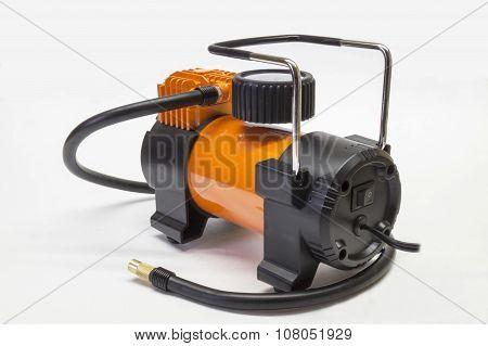 Car Compressor On Light Background