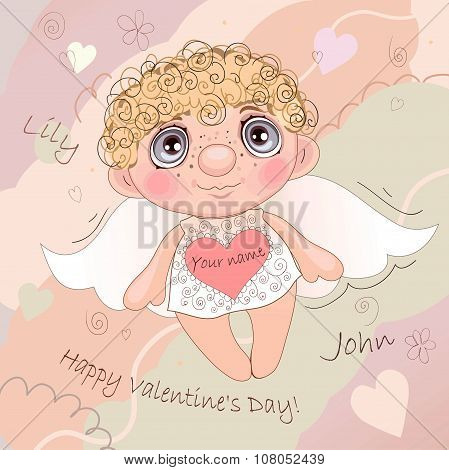 Named Angel Heart, card for Valentine Day.