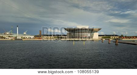 COPENHAGEN, DENMARK-SEPT 03, 2015: The Copenhagen Opera House is the national opera house of Denmark, and among the most modern opera houses in the world.
