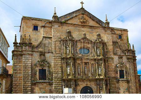 Santiago de Compostela end of Saint James Way San Matino Pinario church in Galicia Spain