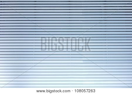 Lamellae Horizontal - Grey Blue Metal / Aluminium Material Background