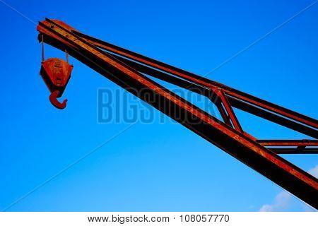 Steel crane old vintage industrial in Santiago de Compostela Galicia