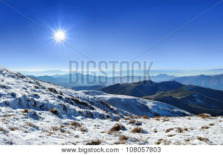Panorama Carpathians Mountains