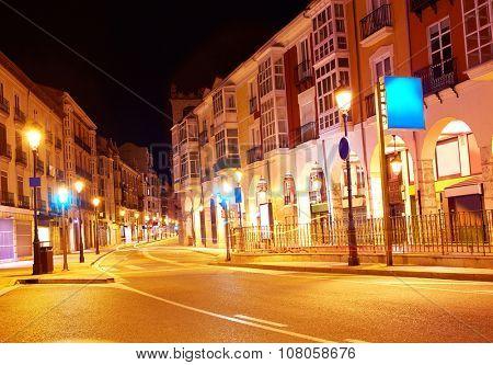 Burgos city at sunset in Castilla Leon of Spain