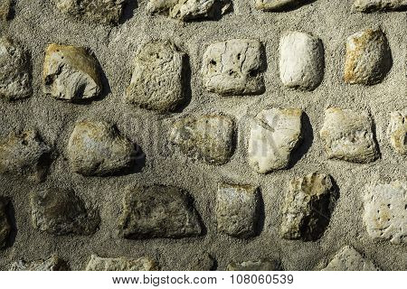 Gray Masonry Rock Wall Exture Background