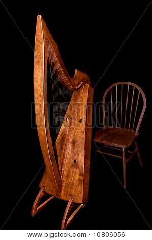 Celtic Harp And Chair