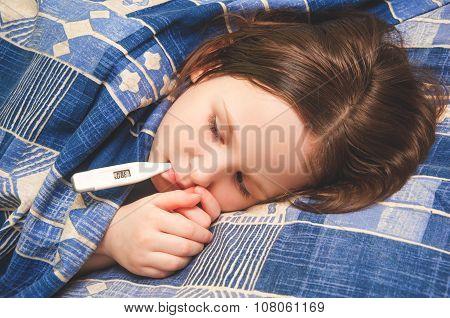 Girl Ill Or Sick