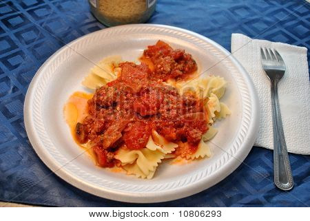 Bow Tie Pasta with Tomato Sauce