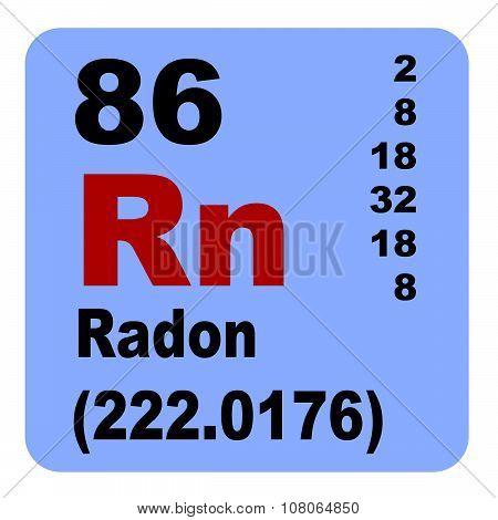 Periodic Table of Elements: No. 86 Radon