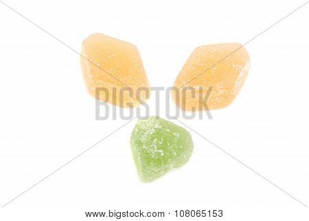 Three Sweet Fruit Candies